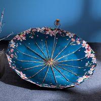 16K A prueba de viento Paraguas Lluvia Mujeres Japonés Estilo Claro Sun Sopbrellas UV Protección Uvolla plegable grande Parasol upf50 +