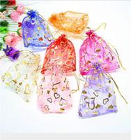 Noel Hediyesi Takı Çanta Organze Saten Şeker Çanta Oyuncak çanta 11 renk Kalp Takı Torbalar Düğün Ambalaj torbaları