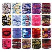 Buitensporten Naadloze Gezichtsmasker Bandana Multifunctionele Hoofddeksels Hoofdband Neckwarmer Magic Sjaal Neck Gaiter Fishing Masks YP527