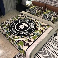 classic embroidered cotton aape bedding home textiles 4 piec...