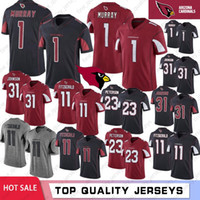 1 Kyler Murray Arizona Hombres jerseys 11 Larry Fitzgerald cardenal 31 David Johnson Peterson 23 jerseys del balompié cosido