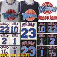 23 Michael Trikots Tune Squad LeBron James 23 10 Lola 2 D.DUCK! Taz 1/3 Tweety Space Jam Film Jersey 1 Bugs Bunny Basketball-Trikots