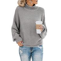 Womens Designer Solid Color Pullover Flügel-Hülsen-Schildkröte Kragen Mode-Frühlings-Herbst-Kleidung der Frauen beiläufigen Strickjacke