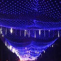 EMS 110 فولت 220 فولت 8 متر * 10 متر 2000 أدى صافي ضوء إضاءة داخلي / في الهواء الطلق إضاءة عيد الميلاد الزفاف السنة الجديدة جارلاند ماء الصمام الخفيفة سلسلة