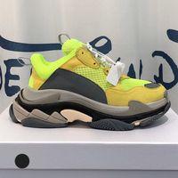 الأزياء 17FW باريس الثلاثي الصورة أولي أبي حذاء رياضة أحذية عادية للرجل إمرأة منخفضة ريترو رمادي الرياضة مصمم أحذية حجم 36-45