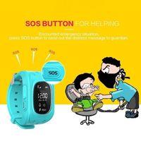 Q50 LCD LBS SOS الآمن نداء الموقع المكتشف المقتفي ووتش الذكية لبيع الهدايا للأطفال محدد المقتفي كيد ساعة ذكية دائرة الرقابة الداخلية الروبوت لمكافحة خسر مراقب