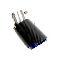 Kipalm موضوع التوجيه قابل للتعديل الترباس على ألياف الكربون العادم عوادم الأزرق المحرقة الفولاذ المقاوم للصدأ أنبوب العادم