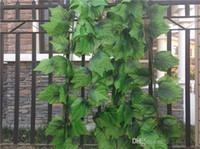 حار بيع الاصطناعي العنب يترك الجدار شنقا النباتات الخضراء تزيين المنزل اللبلاب محاكاة الروطان الأخضر الأناناس 20 قطعة / الوحدة
