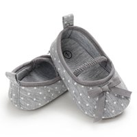 Frühling und Herbst erste Wanderer weiche Unterseite Tuch-Schuhe Breathable-Wellen-Punkt bowite Newborn Schuh-Baby-SHL109