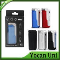 Yocan UNI MOD 5 Цветов E Cigarette Box Mod для всей ширины картриджей Предварительно нагревая Напряжение Регулируемый Vape Mod