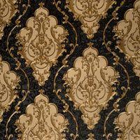 Lujo fondo de pantalla de alto grado Negro Oro textura grabada en relieve Damasco metálico 3D para papel de empapelar del PVC de la pared del rodillo lavable de vinilo