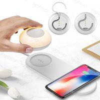 Night Light Set de téléphone portable Antiderapant Pad décoration Chargeur sans fil pour les applications IOS 3000K Dimmable ABS Haning léger DHL