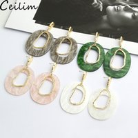 Fashion Irregular Acrylic Earring for Women Geometric Hollow...