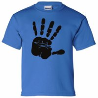HAND PRINT BOYS GIRLS T SHIRT BIRTHDAY PRESENT ART ARTIST PA...