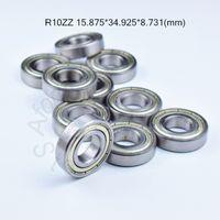 """R10ZZ ABEC -5- 베어링 5/8 """"X 1 3/8""""X 11/32 """"금속 실드 소형 크롬 베어링 강 R10 R10Z R10ZZ 15.875 34.925 * * 8.731 mm"""