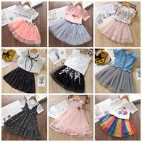 Kinder-Mädchen-Kleid 2020 neue Sommer-Mädchen-beiläufige Früchte Ananas-Muster-Partei-Kostüm-Kind-Kind-Vestidos Anzüge für 3-7Y