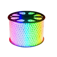 RGB AC 110V LED tira à prova d'água 5050 SMD de néon claro 60leds m com fonte de alimentação, cortada a 1meter via