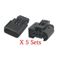 5 Sets 4 Pin Stecker Eingangsdruck-Sensor-Stecker in Automobilfahrzeugverbindung Stecker Chery A3 mit Endstopfen DJ7048-3.5-11 / 21