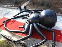 Индивидуальный Хэллоуин страшный надувной черный паук 9M большой висячий воздух вздутый воздушный шар на открытом воздухе на стену и концерта