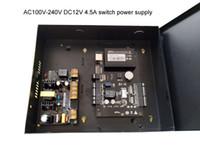 전원 케이스 100V-240V 공급 TCP 액세스 패널 RFID 리더 보조 입력 및 출력 ZK 한 도어 액세스 컨트롤러