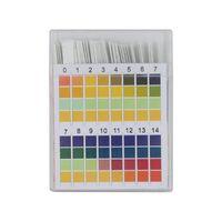 100Pcs 0-14 PH Strisce reattive Cartina tornasole Acido alcalino universale Indicatore di carta per acqua Saliva Terreno Acquari PH Tester