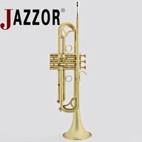 JAZZOR JBTR-450 B professionale tromba piatta opaca spazzolata con custodia strumenti a fiato