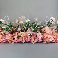 الزهور الزخرفية أكاليل 2PCS الفاوانيا زهرة باقة بو وهمية الاصطناعي حية الفاونية اللمس الحقيقي الزفاف للديكور mariage flores ZJH0