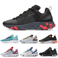 Reagir Elemento 87 55 Homens Running Shoes Hyper Fusion Mulheres Sneakers SE Taped costuras Mens Trainer Triplo Preto Tint Real Tênis 36-45