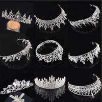 2020 Em stock Frete grátis de cristal de cristal festa de casamento bairro homecoming coroas faixa princesa bridal tiaras acessórios de cabelo moda