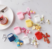 Cute Cartoon Earphone Case Silicone Protective Cover For Air...