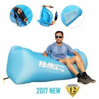 Camp Möbel Beautipe Marke Aufblasbare Liege Hängematte Air Sofa Strand Luftbett Lazy Sleeping Lounge Lay Bag Bett Airbag für Outdoor Camping