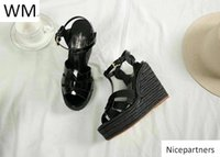 Duping520 New Black Hemp Rope Sole High Heel Shoes Sandals W...
