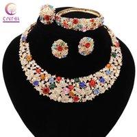 Trendy vendita diretta gioielli regola la collana delle donne per il partito collana Wedding Boho cristallo Dichiarazione con gli orecchini