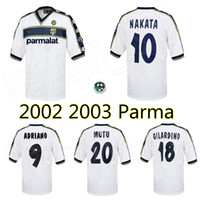 2002 2003 Parma Away Retro Futbol Forması 02 03 Nakata Adriano Gilardino Mutu Vintage Klasik Eski Futbol Gömlek