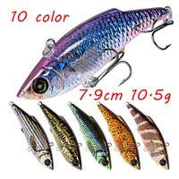 10 Farbe 7.9cm 10.5g VIB-Fischen-Köder-harter Plastikköder Köder 6 # Haken Angelhaken LL-017