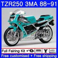 키트 YAMAHA TZR250RR 용 TZR-250 TZR 250 시안 색 검정색 88 89 90 91 본체 244HM.25 TZR250 RS RR YPVS 3MA TZR250 1988 1989 1990 1991 페어링