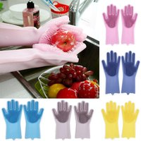 Silicone Glove Resuable Household Scrubber Anti Scald Dishwa...