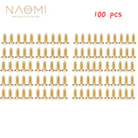 Naomi المهنية أدوات الغيتار 100 مسامير طلاء الذهب 3 ملليمتر ل strat تيلي غيتار كهربائي pickguard scratchplate جديد