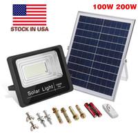 New Solar LED Luz de rua 20W 30W 40W 50W 100W 200W Alto Brilho 3030 LED Luz de Inundação Solar IP65 LED