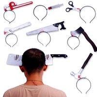 Simulation Horror Spicy Messer Stirnband Axt Kopf Schnalle Spielzeug Heikles Haarband Für Halloween Dekoration 3 5jr E1