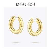 Ювелирные изделия ENFASHION Punk Link Chain Хооп серьги для женщин цвета золота Малый круг обручи серьги моды Aros De Moda 2019 EC1044 CJ191216