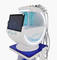 Hielo Azul probable ultrasónica RF de Aqua piel Scrubber anti-arrugas HydraOxygen dermoabrasión facial con analysizer la piel de la máquina de limpieza