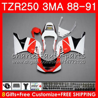본체 YAMAHA TZR250 3MA TZR 250 RS RR YPVS 검은 색 빨간색 TZR250RR 118HM.94 TZR-250 88 89 90 91 TZR250 1988 1989 1990 1991 페어링 키트