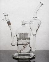 Recycler Glas Öl Rigs JM Flow Sci Glas Großer Recycler mit Sprinkler Perc 20 Armbaum Freies Verschiffen