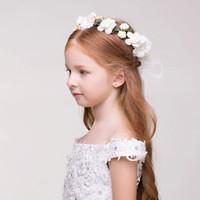 Мода девушка Корона роза цветок волос группа оголовье свадебные волосы гирлянда головной убор