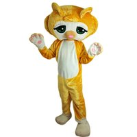 2018 New high quality Lovely Yellow Cat Mascot costumes for ...