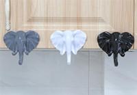 Hot Jardim Elephant Head animal da parede porta roupa gancho de exibição de armazenamento Racks autoadesivo Hanger Saco teclas de aderência Titular Decoração criativa