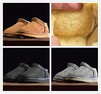 الفتيات أستراليا نمط أحذية الثلوج لطيف القطن النعال ماء الانزلاق على الأطفال الشتاء جلد الغنم الأحذية العلامة التجارية Ivg مصمم الأحذية