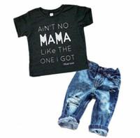 Recién nacido, niños, niños, bebés, niños, ropa, camiseta, camisetas, tops, pantalones de mezclilla, conjuntos de trajes
