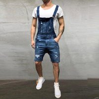 Jeans Jumpsuits Shorts 2019 Summer Fashion Hi Street Distres...